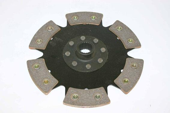 6-puck 215mm clutch disc with hub V20 (22,1mm x 20)