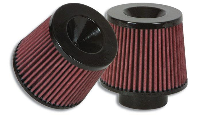 """The Classic"" Performance Air Filter (5.25"" O.D. Cone x 5"" Tall x 3.5"" inlet I.D.) - Black Filter Cap"""