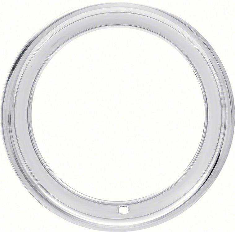 """15"""" STAINLESS STEEL ROUND LIP  TRIM RING  FOR OEM AND REPRODUCTION RALLY WHEELS (3"""" DEEP)"""