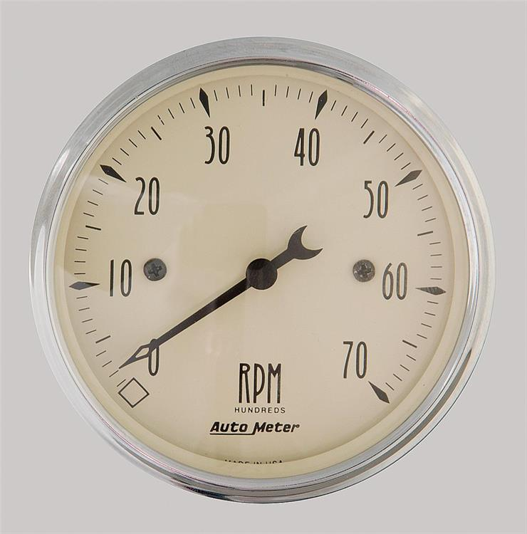varvräknare 80mm 0-7.000RPM Antique Beige