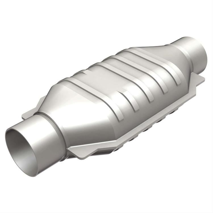 "Catalytic Converter 3"" Oval Polished Stainless"