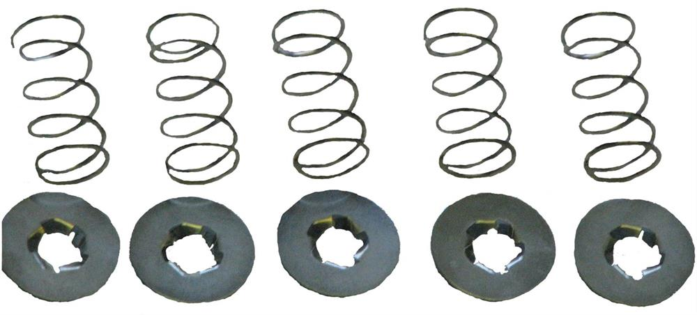 Assist Springs, Spacers, for use with Mini Latches, Steel, Natural, Kit
