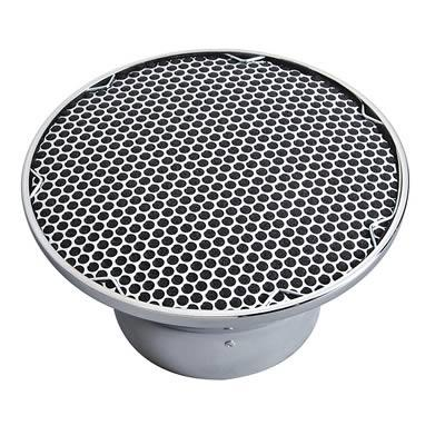 Air Filter Assembly, Velocity Stack, Steel, Chrome, 8.75 in. Diameter, 4.5 in. Filter Height, Each