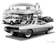 "1968-69 DODGE CHARGER ""FLASH BACK PRINT"""