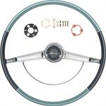 1965 IMPALA STEERING WHEEL KIT TWO TONE BLUE