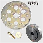 Combo, Summit SFI Flexplate 168-Tooth, OEM Balancer, Summit-ARP Bolts, Chevy, 265-350, 2-Piece Seal, Kit