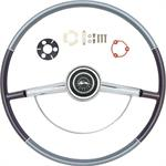 1964 IMPALA STEERING WHEEL KIT TWO TONE BLUE