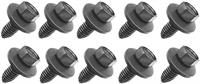 "Bolt, 3/8-16 X 1"" Pointed Tip With Free Spinning Washer, Black Phosphate, 10 Piece Set"