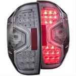 14-15 TUNDRA  L.E.D Taillights Chrome Clear