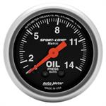 Oil pressure, 52.4mm, 0-14 kg/cm2, mechanical