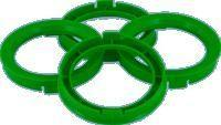 Centerring 633- > 591mm Green
