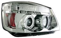 Headlamps Clear / Chrome with Angel Eyes