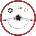 1966 IMPALA STEERING WHEEL KIT RED