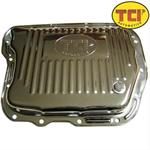 Automatic Transmission Pan, Stock Depth, Steel, Chrome, Torqueflite 727