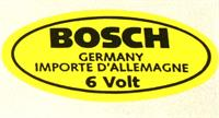 "Sticker ""bosch 6 Volt"" ( Ac853951 )"