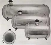 Fuel tank stainless steel centerfill 19 litres 25x41cm