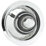 Center Cap, Steel, Chrome, Snap-In, Bullet Style, 3.500 in. Tall Design