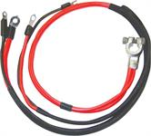 1969-70 Mopar B-Body Positive Battery Cable - Big Block With 1-Piece Molded Starter Lug